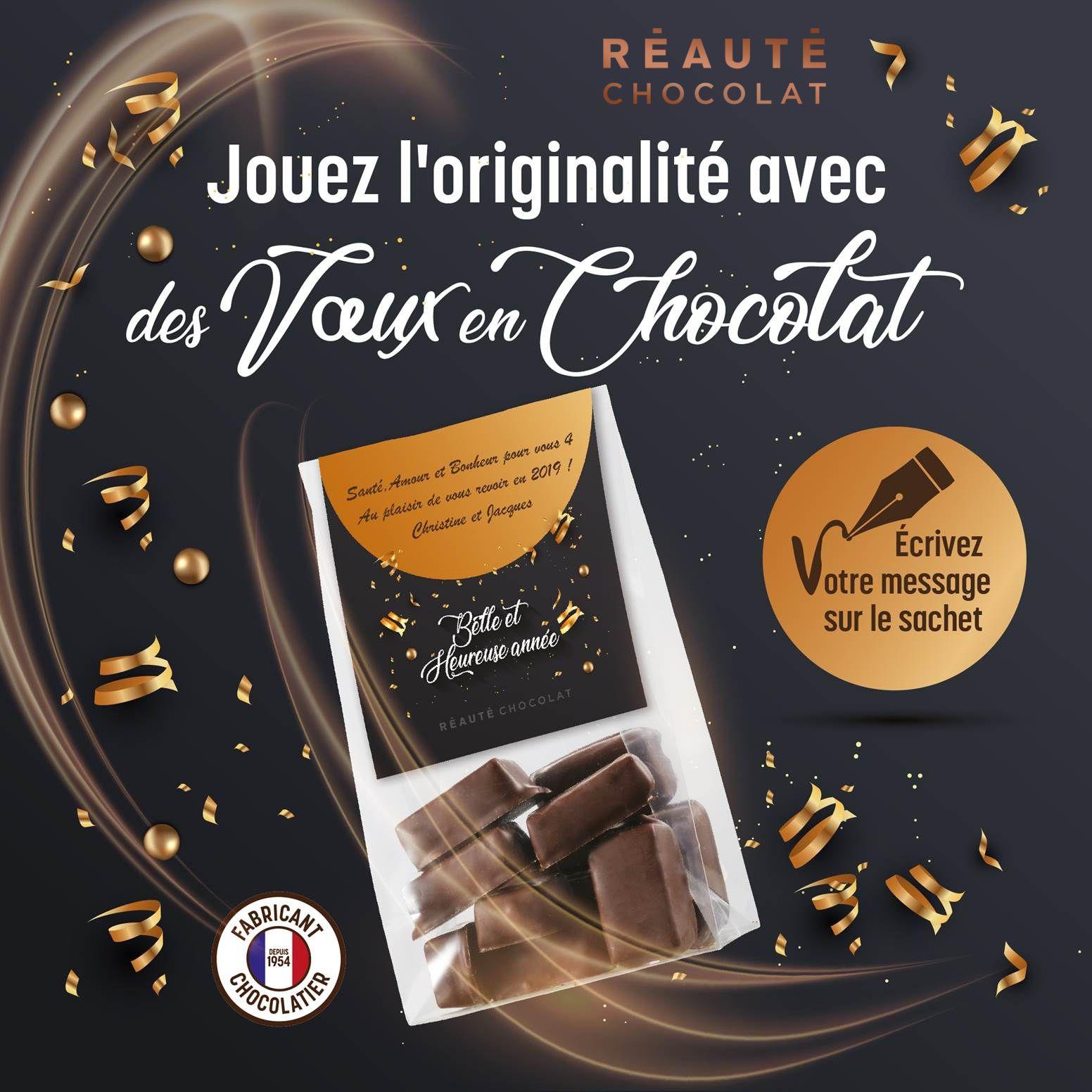 Opération Meilleurs Voeux : chocolats personnalisés